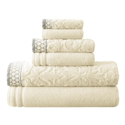 Isadora 6 Piece Towel Set Color: Ivory