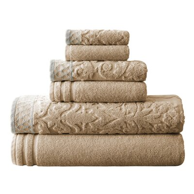 Isadora 6 Piece Towel Set Color: Taupe