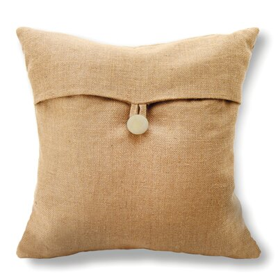 Arie Button Cotton Throw Pillow