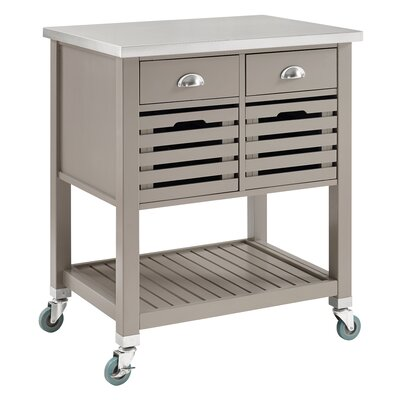 Eve Kitchen Cart with Stainless Top