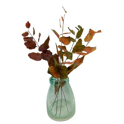 Autumn Foliage Stems Desk Top Plant in Vase