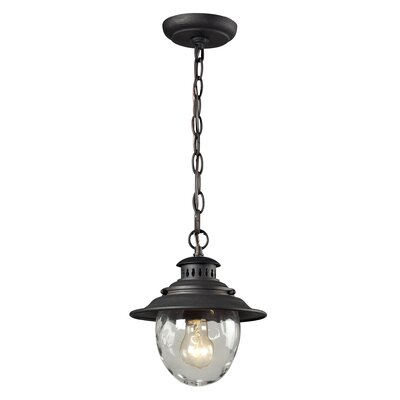 Avon 1-Light Foyer Pendant Finish: Weathered Charcoal
