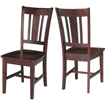 Malcolm Slat Back Solid Wood Dining Chair Finish: Rich Mocha