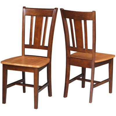 Malcolm Slat Back Solid Wood Dining Chair Finish: Cinnamon/Espresso