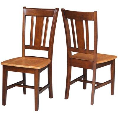 Malcolm Slat Back Side Chair Finish: Cinnamon/Espresso
