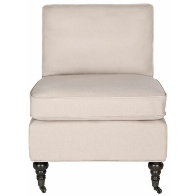 Armless Slipper Chair Upholstery: Taupe