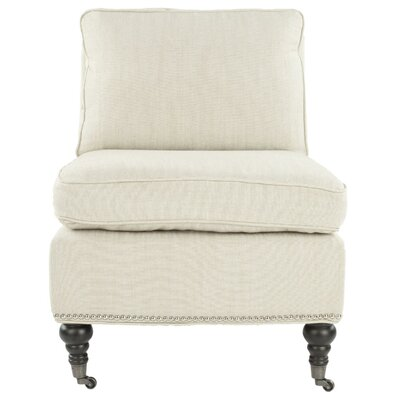 Armless Slipper Chair Upholstery: Off White