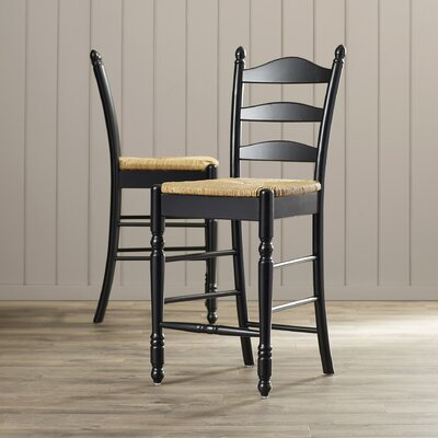 Erma 24 Bar Stool Frame Color: Black