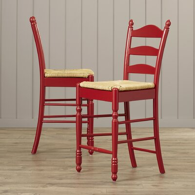 Erma 24 Bar Stool Frame Color: Red