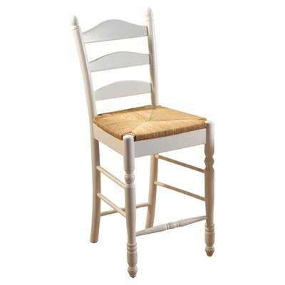 Erma 24 Bar Stool Frame Finish: White