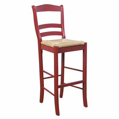 Paloma 30 Bar Stool Upholstery: Red