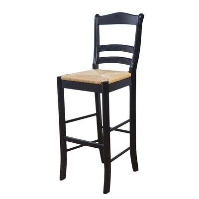 Paloma 30 Bar Stool Upholstery: Black