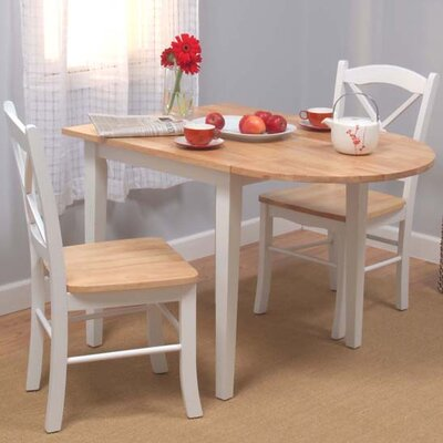 Prudhomme 3 Piece Dining Set Color: White