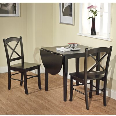 Wisteria 3 Piece Dining Set Finish Black