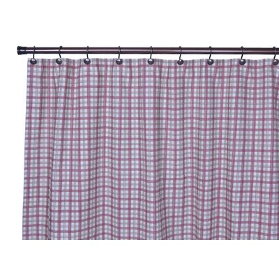 Leo Two-Tone Plaid Bathroom Shower Curtain in Red