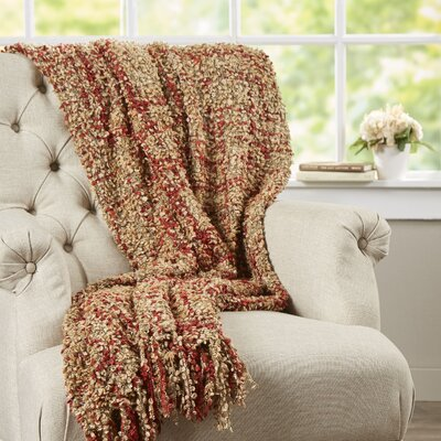 Ashton Woven Throw Blanket Color: Caramel
