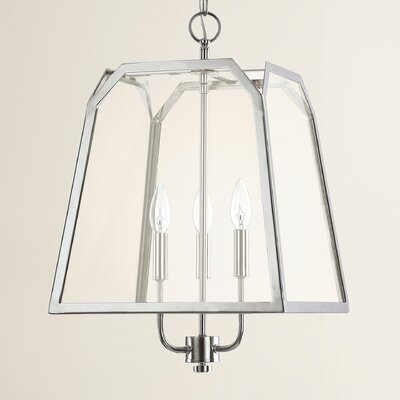 Evanston 3-Light Foyer Pendant Finish: Polished Nickel