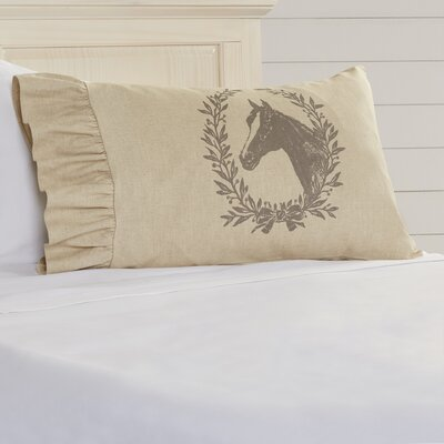 Offerman Horse Crest Standard Ruffled Pillowcase