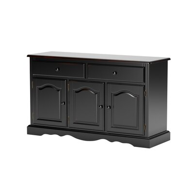 Katie 3 Door Sideboard Color: Antique Black / Cherry