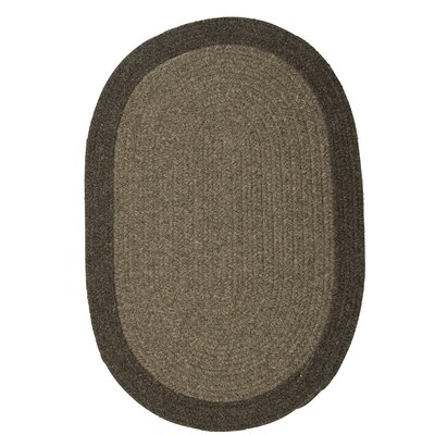 Rupert Brown Area Rug Rug Size: Oval 7 x 9