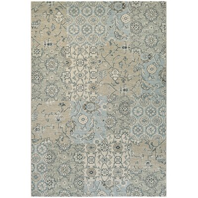 Adline Hand-Woven Light Gray/Ivory Area Rug Rug Size: Rectangle 92 x 125