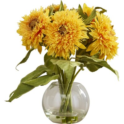 Golden Sunflower Arrangement in Vase