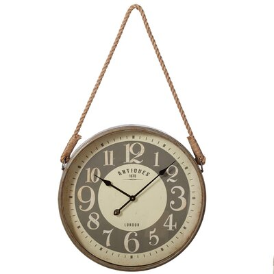 23.5 Wall Clock with Rope Hanger