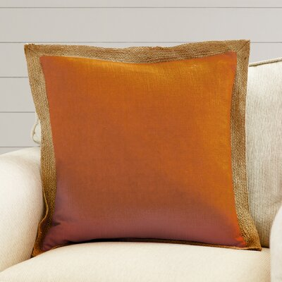 Mantador Throw Pillow Size: 22 H x 22 W x 4 D, Color: Rust, Filler: Down