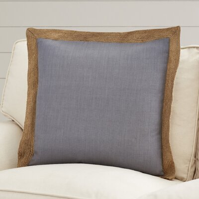 Mantador Throw Pillow Size: 22 H x 22 W x 4 D, Color: Gray, Filler: Down