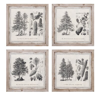 Conifer 4 Piece on Wood Set