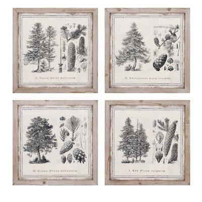 Conifer 4 Piece on Wood Set