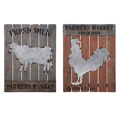 2 Piece Farm Fresh Wall Decor Set
