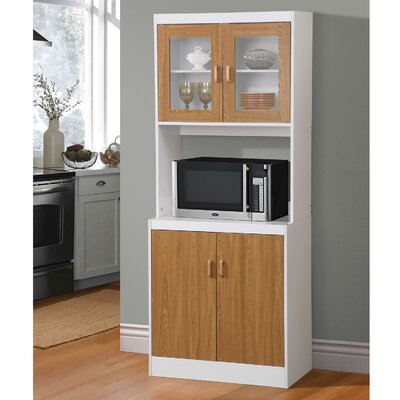 Aaronsburg Microwave Cart Base Finish: Brown