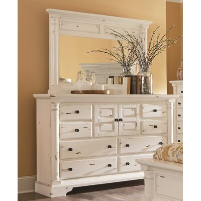 Findlay 8 Drawer Standard Dresser Color: Aged White