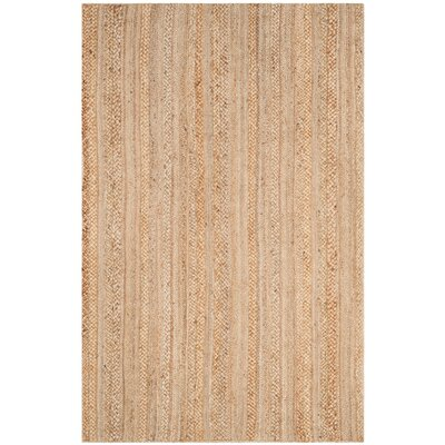 Fithian Hand-Woven Natural Area Rug Rug Size: Rectangle 5 x 8