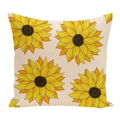Cherokee Sunflower Power Floral Outdoor Throw Pillow Color: Pink/Yellow