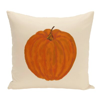 Ivy Lil Pumpkin Holiday Outdoor Throw Pillow Color: Ivory