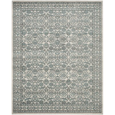Ruthie Ivory/Gray Area Rug Rug Size: 10 x 14