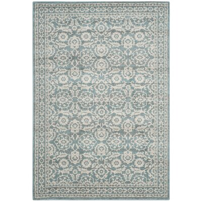 Ruthie Ivory/Gray Area Rug Rug Size: 4 x 6