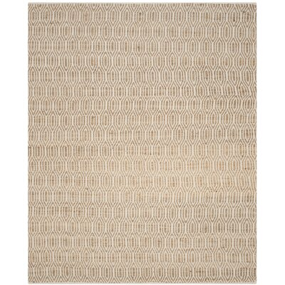 Zap Hand-Woven Natural Area Rug Rug Size: 8 x 10