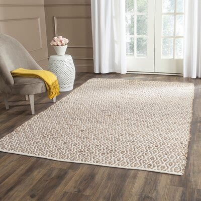 Zap Hand-Woven Natural Area Rug Rug Size: 5 x 8