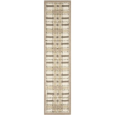 Colorweave Plaid Hand-Tufted Sharkey Gray Area Rug Rug Size: Runner 23 x 10