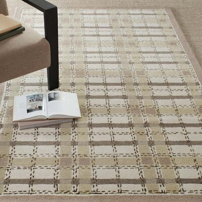 Colorweave Plaid Hand-Tufted Sharkey Gray Area Rug Rug Size: Rectangle 96 x 136