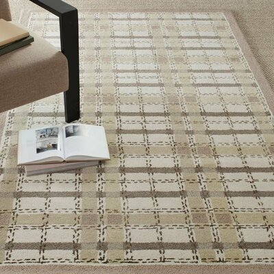 Colorweave Plaid Hand-Tufted Sharkey Gray Area Rug Rug Size: 96 x 136