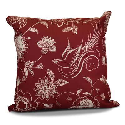 Decorative Holiday Throw Pillow Size: 16 H x 16 W, Color: Cranberry