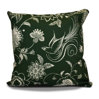 Decorative Holiday Throw Pillow Size: 20 H x 20 W, Color: Dark Green
