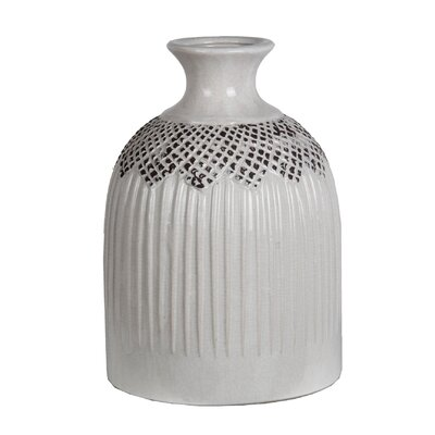 Antique White Ceramic Vase
