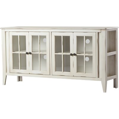Purington 64 TV Stand Color: Rustic White