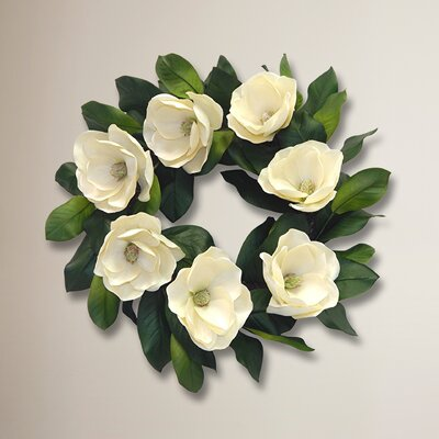 24 Silk Magnolia Wreath