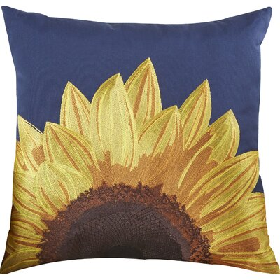Moreland Indoor/Outdoor Throw Pillow Color: Navy Blue/Yellow